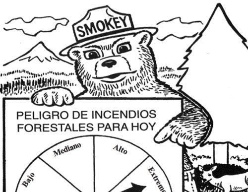 preview of Its Fire Danger Time Again - Spanish