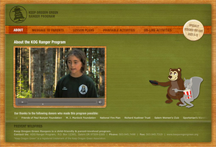 screenshot of kogranger.org